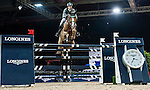 Henrik von Eckermann of Germany rides Gotha FRH in action at the Longines Grand Prix during the Longines Hong Kong Masters 2015 at the AsiaWorld Expo on 15 February 2015 in Hong Kong, China. Photo by Juan Flor / Power Sport Images