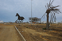 A sculpture in a neigborhood in Zarzis. A town East of Tunisia that was a meeting point for illegal immigrants to try to cross over to Lampedusa especially during the war in Libya