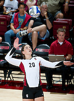 STANFORD, CA - September 2, 2010: Mary Ellen Luck during a volleyball match against UC Irvine in Stanford, California. Stanford won 3-0.