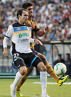 Encuentro de futbol profesional, hoy Sábado 12 de Enero 2012, en el Estadio Corregidora de Querétaro, entre Los Gallos Blancos de Querétaro y los Pumas de la Unam, correspondiente a la fecha 2 del Torneo de Clausura 2013. FOTO AGENCIA SIETEFOTO /NortePhotoAgency