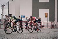 Kevyn Ista (BEL/WB Veranclassic - Aquality Protect) &amp; Jurgen Roelandts (BEL/Lotto-Soudal)<br /> <br /> 2017 National Championships Belgium - Elite Men - Road Race (NC)<br /> 1 Day Race: Antwerpen &gt; Antwerpen (233km)