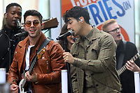 June 07, 2019  Nick Jonas,  Joe Jonas  of Jonas Brothers at Today Show Concert Series to perform,  talk about new album Happiness Begins and tour in New York June 07, 2019   <br /> CAP/MPI/RW<br /> ©RW/MPI/Capital Pictures