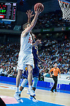 Real Madrid's Jaycee Carroll and UCAM Murcia's Rojas during the first match of the playoff at Barclaycard Center in Madrid. May 27, 2016. (ALTERPHOTOS/BorjaB.Hojas)