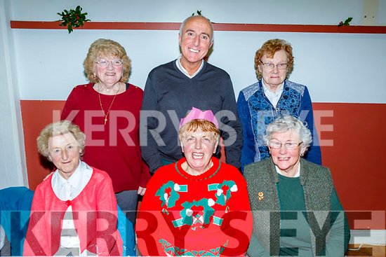 Seated L-R Ann Scales, Katie Fitzgerald and Joan Moriarty, Back L-R Eileen O'Neill, Frank Houlihan with Catherine O'Dowd enjoying the Halla Lé Chéile, Brandon, annual Christmas dinner last Tuesday Dec 10th.