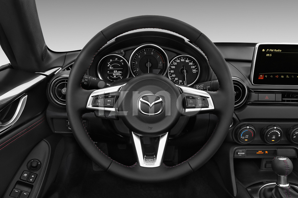 Car pictures of steering wheel view of a 2017 Mazda MX-5 RF First Edition 2 Door Targa