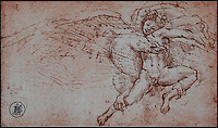 BNPS.co.uk (01202 558833)<br /> Pic: WebbsOfWilton/BNPS<br /> <br /> A drawing 'After' Michaelangelo.<br /> <br /> Drawings and paintings by one of the world's most colourful and notorious art forgers, including a sketch that duped a top auctionhouse, are up for sale.<br /> <br /> Master forger Eric Hebborn fooled art dealers, galleries and auction houses worldwide with his work in the style of old masters, and many of his works which were sold as originals still hang in museums and galleries.<br /> <br /> Hugely talented Hebborn could mimic the style's of many of the world's most famous artist's, and the auction contains works 'After' Michelangelo, Rembrandt, Claude, Augustus John and Bandinelli.<br /> <br /> His paintings are being auctioned by Webbs of Wilton in Wiltshire on Wednesday, as well as manuscripts and books on the art of forging.