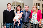 Baby Fiadia Barry with her parents Ciara & PJ Barry, Listowel and god parents Tom Gleeson & Siobhan Devaney who was christened at St. Mary's Church. Listowel by Canon Declan O'Connor on Sunday last and afterwards at the  Listowel Arms Hotel.
