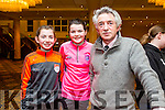 Tralee Boxing Club Kate Taylor v Queen Underwood fight in the Brandon Hotel on Saturday were Mary Ann Fleming, Kate O'Connor and Derry Fleming