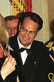 Actor Dan Akroyd waits in line before being greeted by United States President Bill Clinton at the Official White House Dinner in honor of Prime Minister Jean Chrétien of Canada in Washington, D.C. on April 8, 1997..Credit: Ron Sachs / CNP