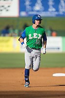 Ryan O'Hearn (22) of the Lexington Legends rounds the bases after hitting a home run in the top of the first inning against the Kannapolis Intimidators at CMC-Northeast Stadium on May 25, 2015 in Kannapolis, North Carolina.  The Intimidators defeated the Legends 6-5.  (Brian Westerholt/Four Seam Images)