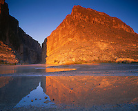 Big Bend National Park, TX:  Rio Grande reflections of Santa Elena Canyon and Mesa de Anguila