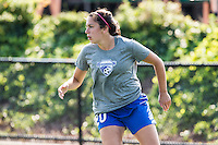 Allston, MA - Sunday July 17, 2016: Mollie Pathman prior to a regular season National Women's Soccer League (NWSL) match between the Boston Breakers and Sky Blue FC at Jordan Field.