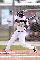 Fernando Perez during the World Wood Bat Association Championships at Roger Dean Sports Complex on October 22, 2011 in Jupiter, Florida.  (Stacy Grant/Four Seam Images)