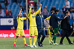 Alvaro Gonzalez Soberon of Villarreal CF celebrates after winning the match between Atletico de Madrid vs Villarreal CF at the Estadio Vicente Calderon on 25 April 2017 in Madrid, Spain. Photo by Diego Gonzalez Souto / Power Sport Images