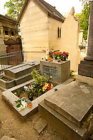 Paris France - Pere La Chaise - cemetry - Jim Morrison Grave