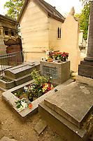 Paris France - Pere La Chaise - cemetry - Jim Morrison Grave