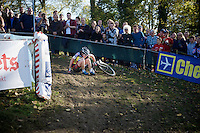 Sanne Cant (BEL/Ciclismo Mundial) down (but not hurt)<br /> <br /> Koppenbergcross 2014