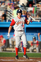 Brooklyn Cyclones outfielder Brandon Nimmo #9 during a game against the Batavia Muckdogs at Dwyer Stadium on July 27, 2012 in Batavia, New York.  Batavia defeated Brooklyn 2-0.  (Mike Janes/Four Seam Images)