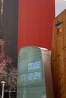 Official Olympic clock for the 2010 Winter Games, Vancouver, British Columbia Canada.