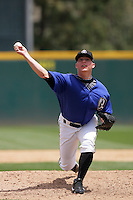 April 28, 2010: Christian Scholl of the Rancho Cucamonga Quakes during game against the Visalia Rawhide at The Epicenter in Rancho Cucamonga,CA.  Photo by Larry Goren/Four Seam Images