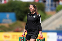 Cary, North Carolina  - Sunday May 21, 2017: Tarah Ellington Geye prior to a regular season National Women's Soccer League (NWSL) match between the North Carolina Courage and the Chicago Red Stars at Sahlen's Stadium at WakeMed Soccer Park. Chicago won the game 3-1.