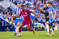 Raheem Sterling of Manchester City (7)  during the EPL - Premier League match between Brighton and Hove Albion and Manchester City at the American Express Community Stadium, Brighton and Hove, England on 12 August 2017. Photo by Edward Thomas / PRiME Media Images.