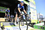 Luke Rowe (WAL) Team Sky at sign on before the 2019 E3 Harelbeke Binck Bank Classic 2019 running 203.9km from Harelbeke to Harelbeke, Belgium. 29th March 2019.<br /> Picture: Eoin Clarke | Cyclefile<br /> <br /> All photos usage must carry mandatory copyright credit (© Cyclefile | Eoin Clarke)