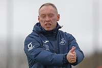 Swansea City manager Steve Cooper applauds his players during the Swansea City Training Session at The Fairwood Training Ground, Swansea, Wales, UK. Wednesday 11 March 2020