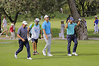 Jose Maria Olazabal (ESP) Andrea Pavan (ITA) and Pablo Larrazabal (ESP) during the second round of the Mutuactivos Open de Espana, Club de Campo Villa de Madrid, Madrid, Madrid, Spain. 04/10/2019.<br /> Picture Hugo Alcalde / Golffile.ie<br /> <br /> All photo usage must carry mandatory copyright credit (© Golffile | Hugo Alcalde)