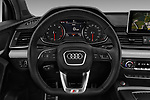 Car pictures of steering wheel view of a 2018 Audi SQ5 Premium Plus 5 Door SUV