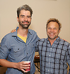 Hamish Linklater and Norbert Leo Butz attend the photo call for The New Group's World Premiere of Hamish Linklater's 'The Whirligig'  at the New 42nd Street Studios on April 3, 2017 in New York City.