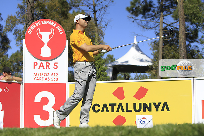 Niclas Fasth (SWE) on the 3rd tee during Thursday's Round 1 of The Open De Espana at The PGA Catalunya Resort. 15th May 2014.<br /> Picture:  Thos Caffrey / www.golffile.ie