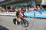 Richie Porte (AUS) BMC Racing Team during Stage 1 of the La Vuelta 2018, an individual time trial of 8km running around Malaga city centre, Spain. 25th August 2018.<br /> Picture: Ann Clarke | Cyclefile<br /> <br /> <br /> All photos usage must carry mandatory copyright credit (© Cyclefile | Ann Clarke)