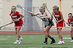 San Diego, CA 05/21/11 - Rachel Brennan (Coronado #22), Carissa Fisher (Cathedral Catholic #1) and Chandler Ramsey (Cathedral Catholic #14) in action during the 2011 CIF San Diego Division 2 Girls lacrosse finals between Cathedral Catholic and Coronado.