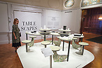 View of Mary Ping and Joe Doucet installation in Tablescapes: Designs for Dining. <br />