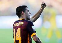 Esultanza Iago Falqueduring italian serie a soccer match between Frosinone e Roma