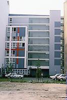 Peter Eisenman: Social Housing. Rear of IBA Building, Berlin.  Photo '87.