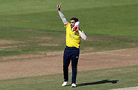 Tabraiz Shamsi of Hampshire celebrates taking the wicket of Adam Wheater during Hampshire vs Essex Eagles, Vitality Blast T20 Cricket at the Ageas Bowl on 25th August 2019