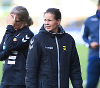 20190813 - DENDERLEEUW, BELGIUM : LSK's assistant coach Cecilie Berg-Hansen pictured during the female soccer game between the Greek PAOK Thessaloniki Ladies FC and the Norwegian LSK Kvinner Fotballklubb Ladies , the third and final game for both teams in the Uefa Womens Champions League Qualifying round in group 8 , Tuesday 13 th August 2019 at the Van Roy Stadium in Denderleeuw  , Belgium  .  PHOTO SPORTPIX.BE for NTB | DAVID CATRY