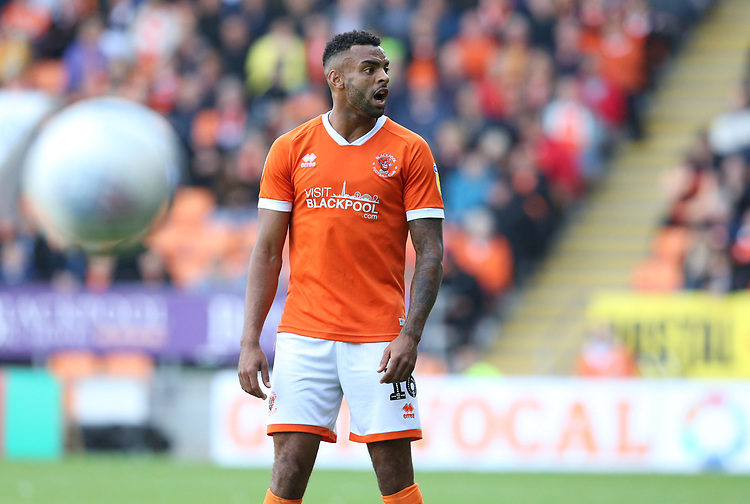 Blackpool's Curtis Tilt<br /> <br /> Photographer Stephen White/CameraSport<br /> <br /> The EFL Sky Bet League One - Blackpool v Portsmouth - Saturday 31st August 2019 - Bloomfield Road - Blackpool<br /> <br /> World Copyright © 2019 CameraSport. All rights reserved. 43 Linden Ave. Countesthorpe. Leicester. England. LE8 5PG - Tel: +44 (0) 116 277 4147 - admin@camerasport.com - www.camerasport.com