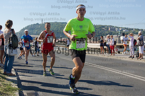 Thousands of runners participate the Budapest Half Marathon international running competition in Budapest, Hungary on September 08, 2013. ATTILA VOLGYI