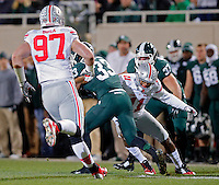 Ohio State Buckeyes defensive back Vonn Bell (11) against Michigan State Spartans at Spartan Stadium in East Lansing, Michigan on November 8, 2014.  (Dispatch photo by Kyle Robertson)