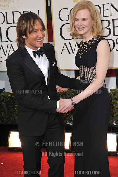 Keith Urban & NIcole Kidman at the 70th Golden Globe Awards at the Beverly Hilton Hotel..January 13, 2013  Beverly Hills, CA.Picture: Paul Smith / Featureflash