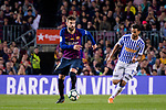 Gerard Pique Bernabeu of FC Barcelona (L) in action against Willian Jose da Silva of Real Sociedad (R) during the La Liga match between Barcelona and Real Sociedad at Camp Nou on May 20, 2018 in Barcelona, Spain. Photo by Vicens Gimenez / Power Sport Images