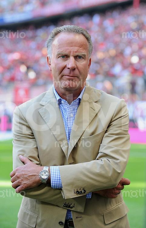 FUSSBALL  1. BUNDESLIGA   SAISON 2009/2010   2. SPIELTAG    15.08.2009 FC Bayern Muenchen - SV Werder Bremen      FC B Vorstandsvorsitzender Karl-Heinz Rummenigge