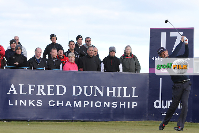 Padraig Harrington (IRL) on the 17th in Carnoustie on the 1st Day at the Alfred Dunhill Links Championship, Old Course St. Andrews, Carnoustie and Kingsbarns, Scotland...(Photo Jenny Matthews/www.golffile.ie)