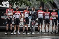Team Lotto Soudal at the pre race team presentation.<br /> <br /> 11th Heistse Pijl 2018<br /> Turnhout > Heist-op-den Berg 194km (BEL)