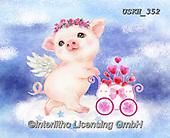 Kayomi, CUTE ANIMALS, LUSTIGE TIERE, ANIMALITOS DIVERTIDOS, paintings+++++,USKH352,#ac#, EVERYDAY ,pig,pigs