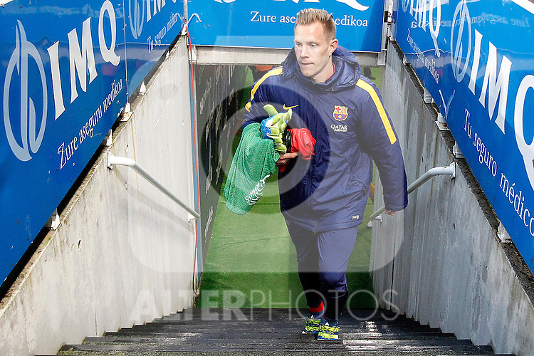 FC Barcelona's Marc-Andre Ter Stegen during La Liga match. April 9,2016. (ALTERPHOTOS/Acero)