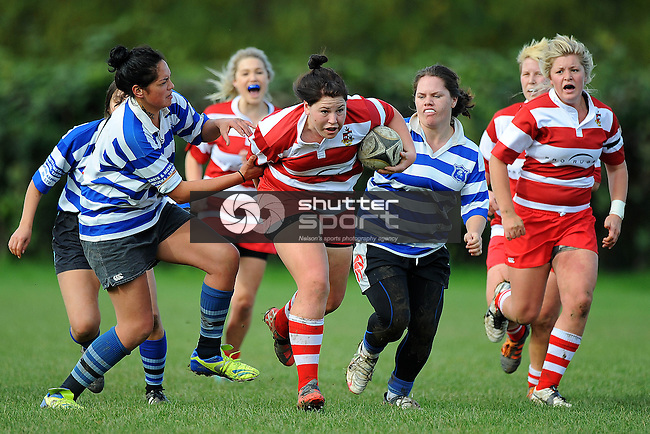 Senior Womens rugby Riwaka v WOB. Riwaka Park, Motueka, New Zealand. Saturday 25 May 2013. Photo: Chris Symes/www.shuttersport.co.nz